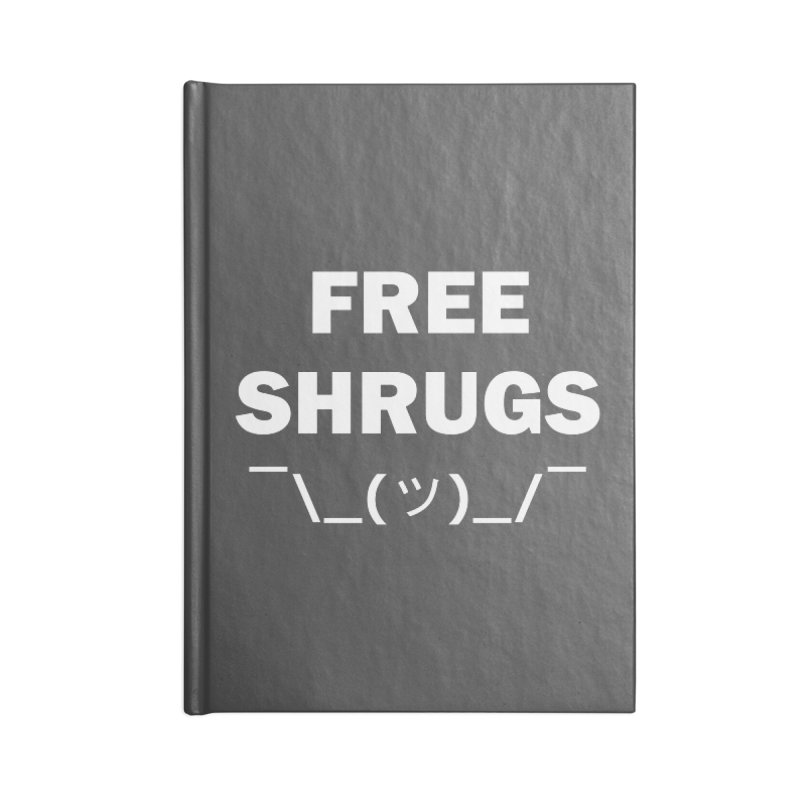 Free Shrugs Accessories Notebook by creativehack's Artist Shop