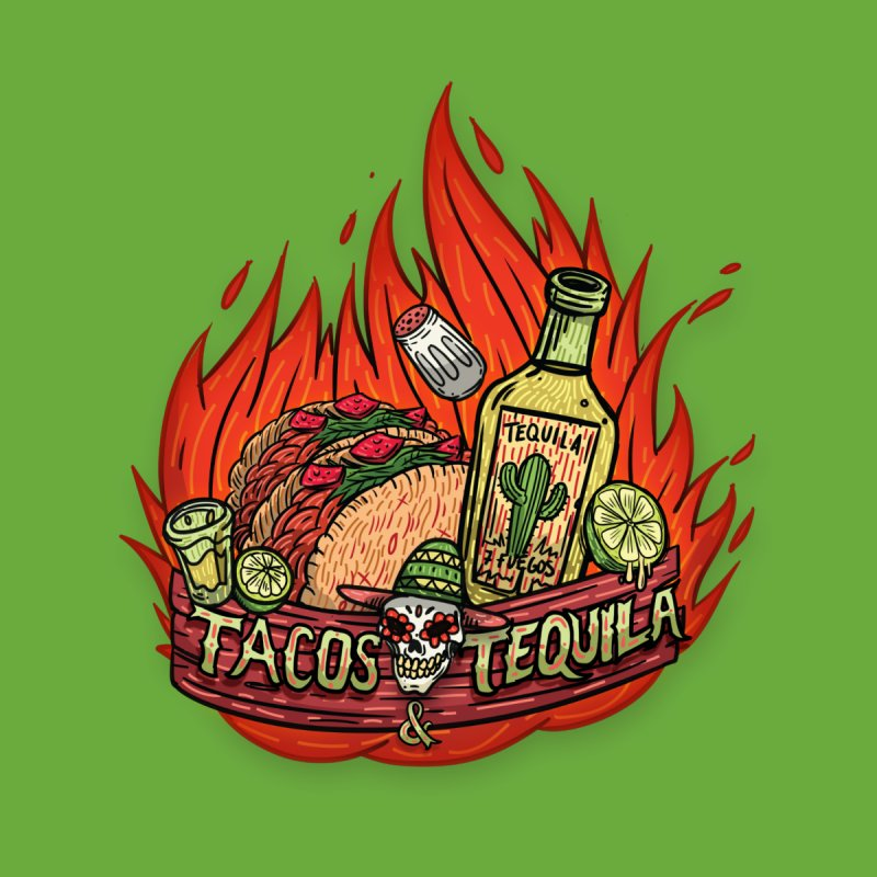 Love Tacos&Tequila Men's T-Shirt by creativosindueno's Artist Shop