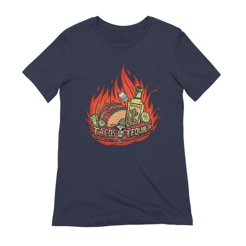 Love Tacos&Tequila Women's Extra Soft T-Shirt by creativosindueno's Artist Shop
