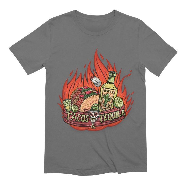 Love Tacos&Tequila Men's Extra Soft T-Shirt by creativosindueno's Artist Shop