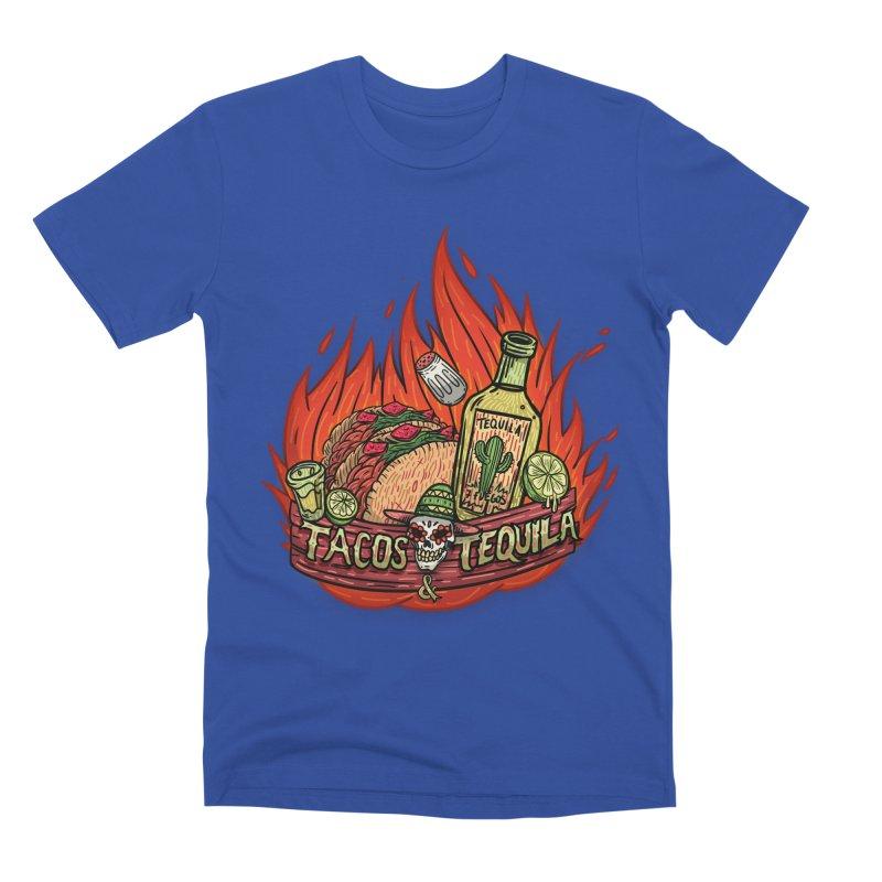 Love Tacos&Tequila Men's Premium T-Shirt by creativosindueno's Artist Shop