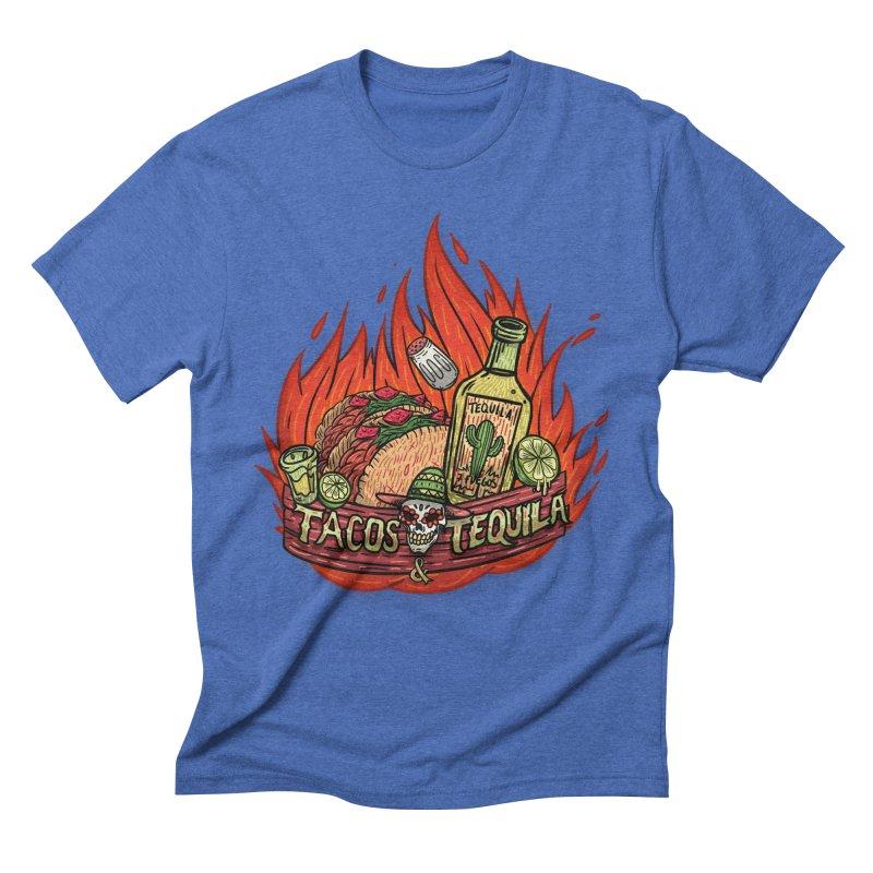 Love Tacos&Tequila Men's T-Shirt by creativosindueno's Artist Shop