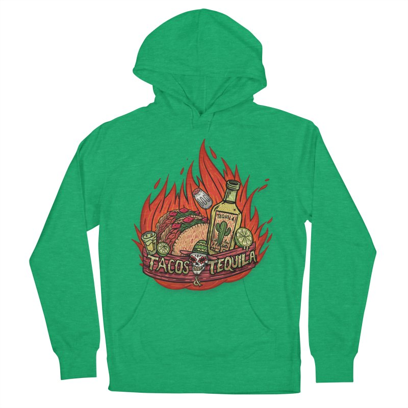 Love Tacos&Tequila Men's French Terry Pullover Hoody by creativosindueno's Artist Shop