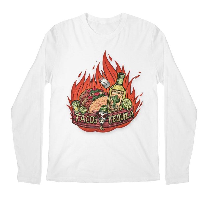 Love Tacos&Tequila Men's Regular Longsleeve T-Shirt by creativosindueno's Artist Shop