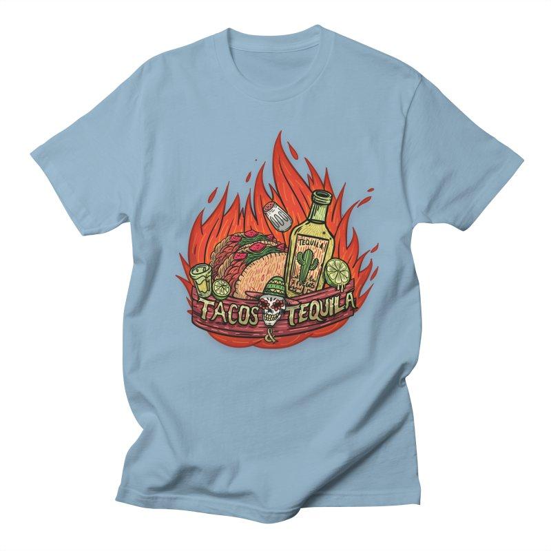 Love Tacos&Tequila Women's Regular Unisex T-Shirt by creativosindueno's Artist Shop