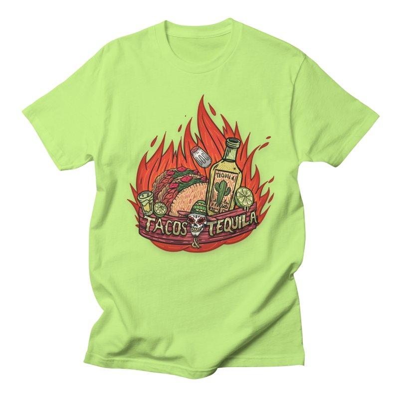 Love Tacos&Tequila Men's Regular T-Shirt by creativosindueno's Artist Shop