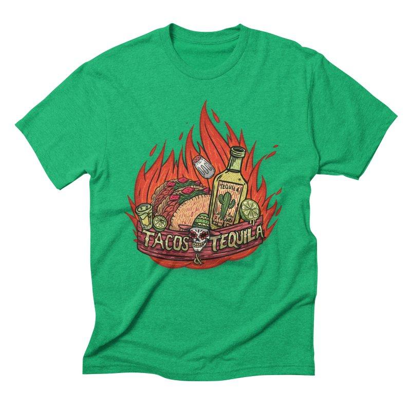 Love Tacos&Tequila Men's Triblend T-Shirt by creativosindueno's Artist Shop