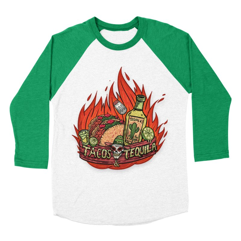 Love Tacos&Tequila Men's Baseball Triblend Longsleeve T-Shirt by creativosindueno's Artist Shop