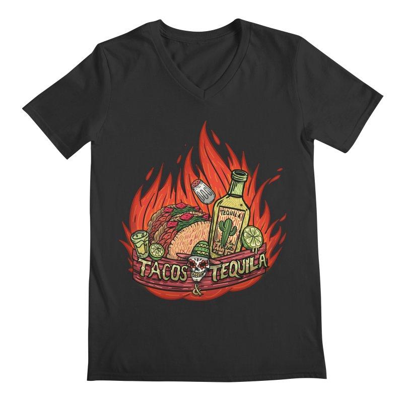 Love Tacos&Tequila Men's Regular V-Neck by creativosindueno's Artist Shop