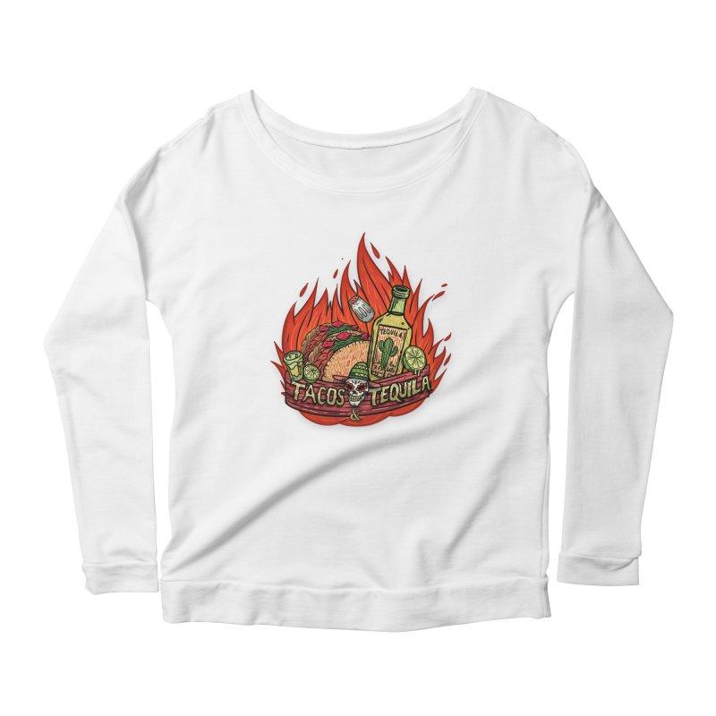 Love Tacos&Tequila Women's Scoop Neck Longsleeve T-Shirt by creativosindueno's Artist Shop