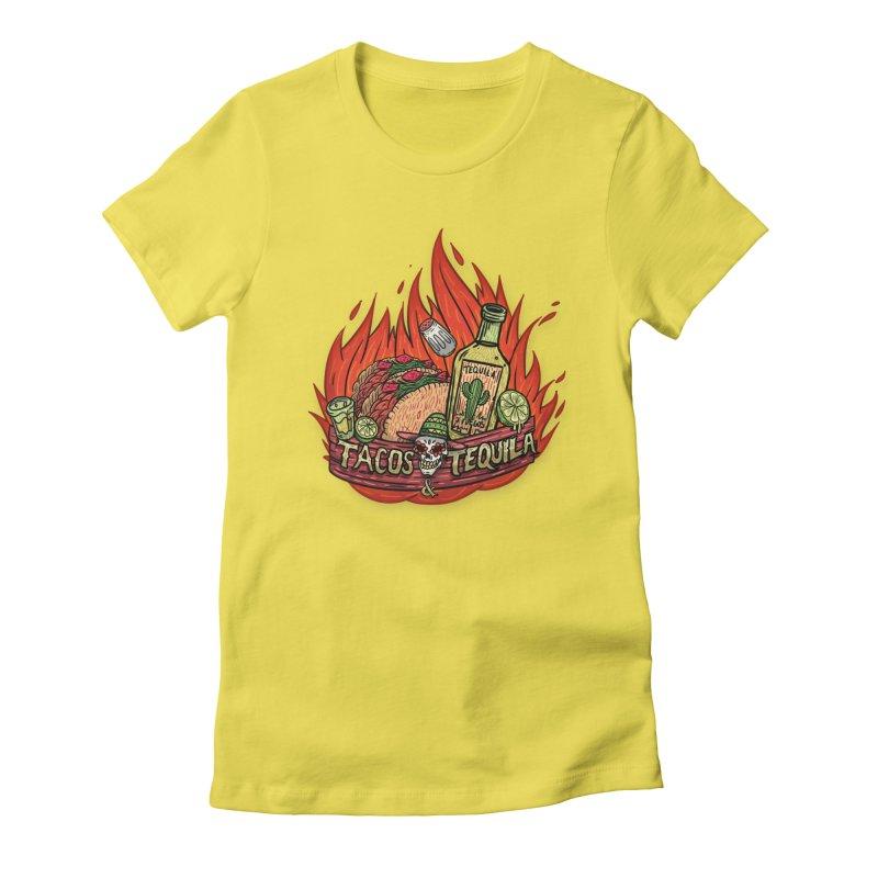 Love Tacos&Tequila Women's Fitted T-Shirt by creativosindueno's Artist Shop