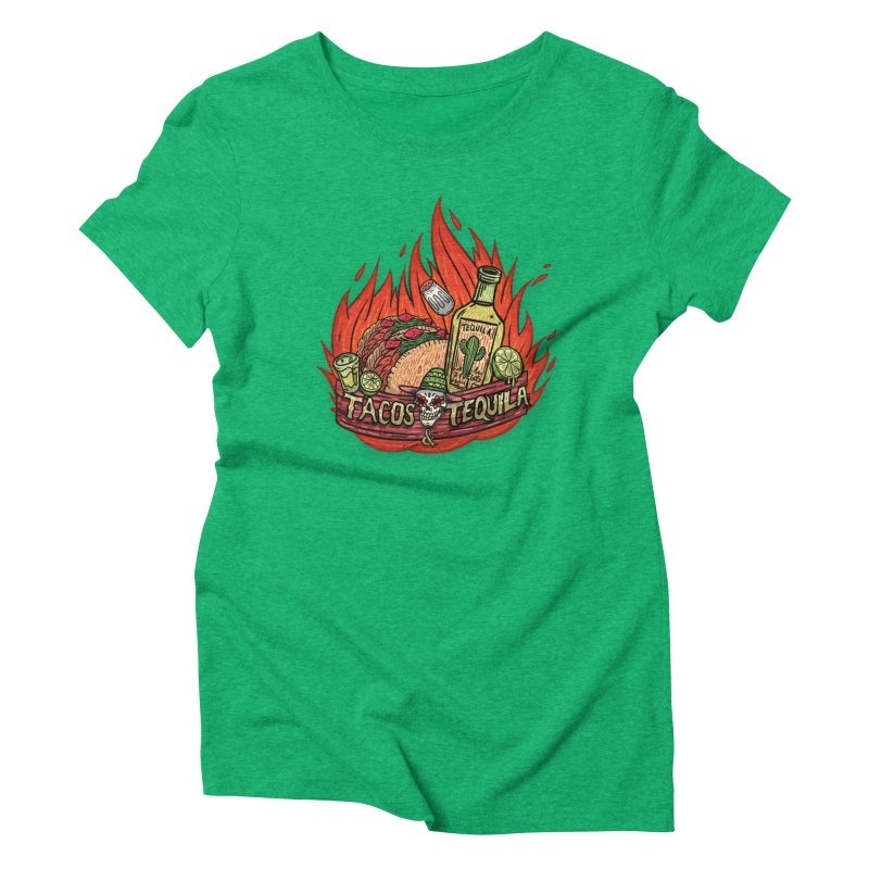 Love Tacos&Tequila Women's Triblend T-Shirt by creativosindueno's Artist Shop