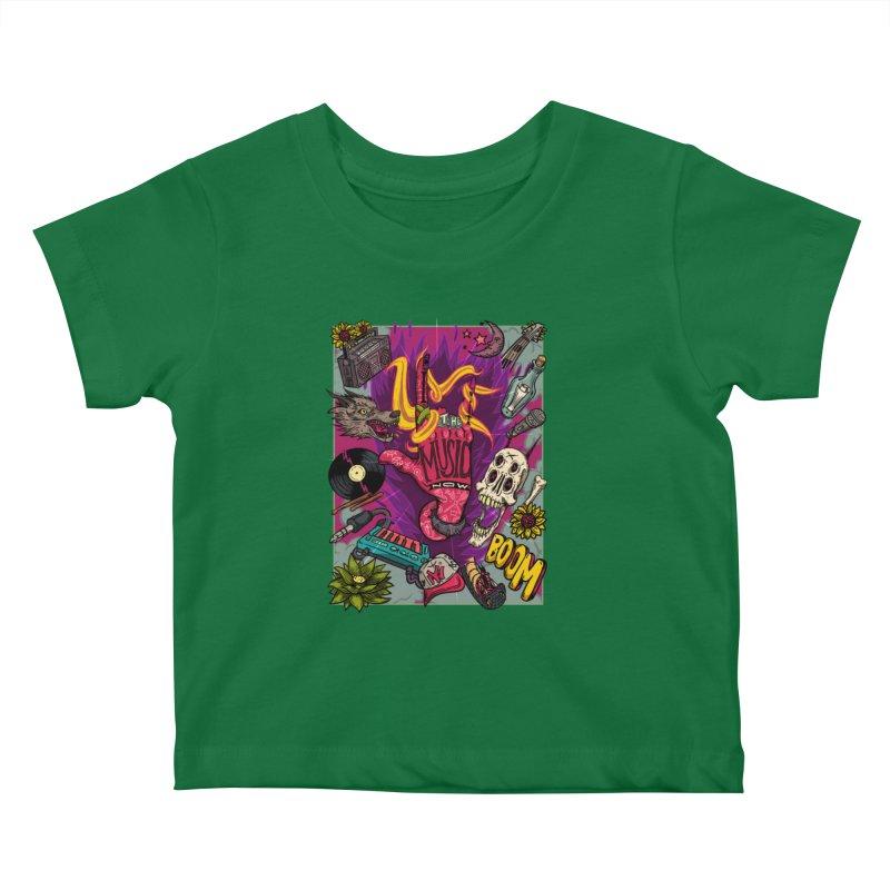 Live The Music Now Kids Baby T-Shirt by creativosindueno's Artist Shop