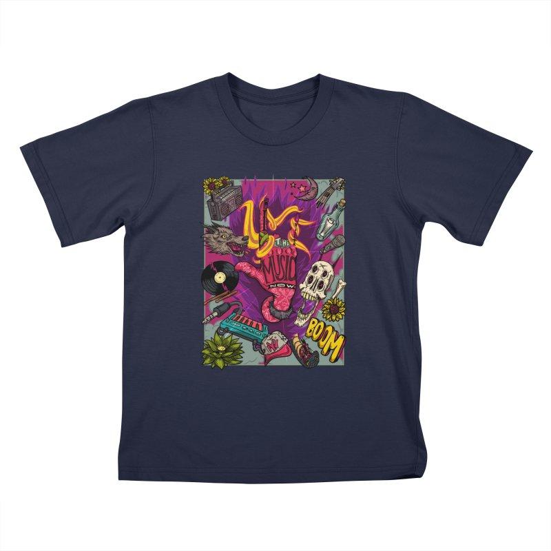 Live The Music Now Kids T-Shirt by creativosindueno's Artist Shop