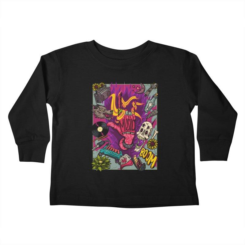 Live The Music Now Kids Toddler Longsleeve T-Shirt by creativosindueno's Artist Shop