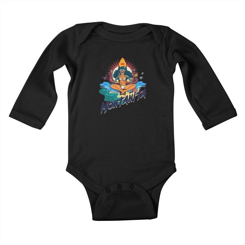 Montañita Kids Baby Longsleeve Bodysuit by creativosindueno's Artist Shop