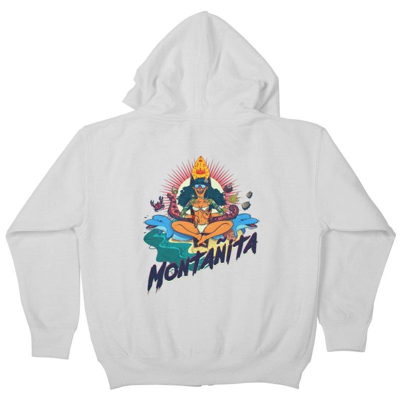 Montañita Kids Zip-Up Hoody by creativosindueno's Artist Shop