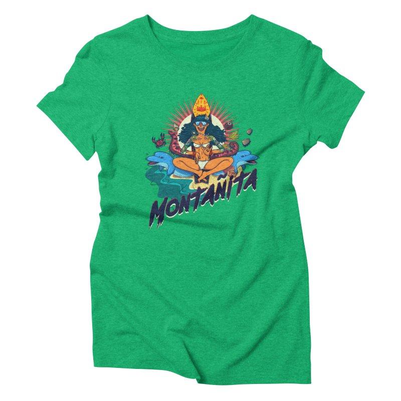 Montañita Women's Triblend T-shirt by creativosindueno's Artist Shop