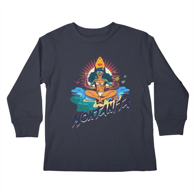 Montañita Kids Longsleeve T-Shirt by creativosindueno's Artist Shop