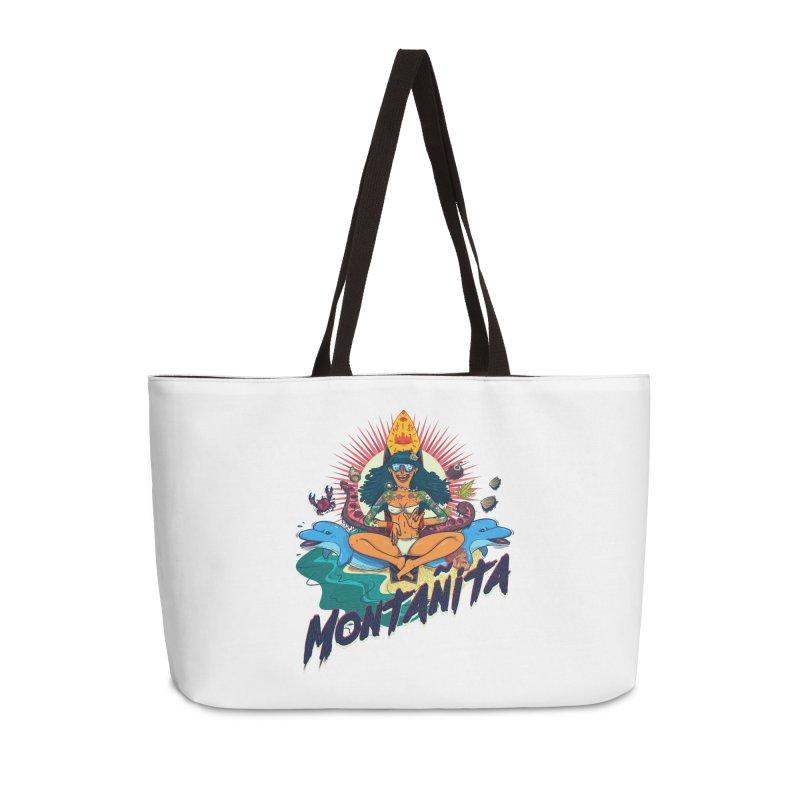 Montañita Accessories Weekender Bag Bag by creativosindueno's Artist Shop