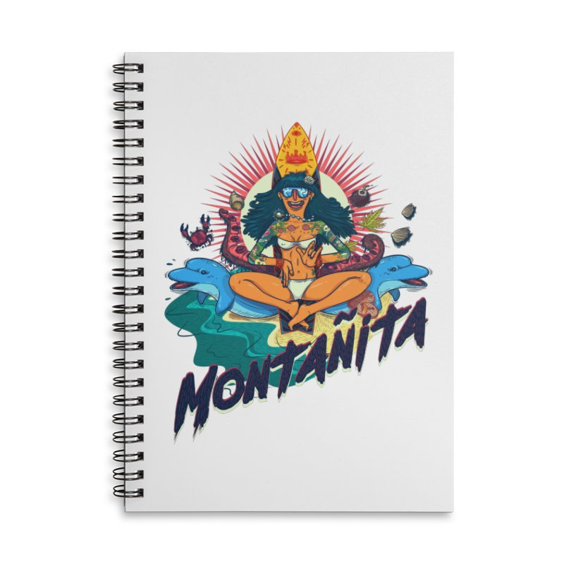 Montañita Accessories Lined Spiral Notebook by creativosindueno's Artist Shop