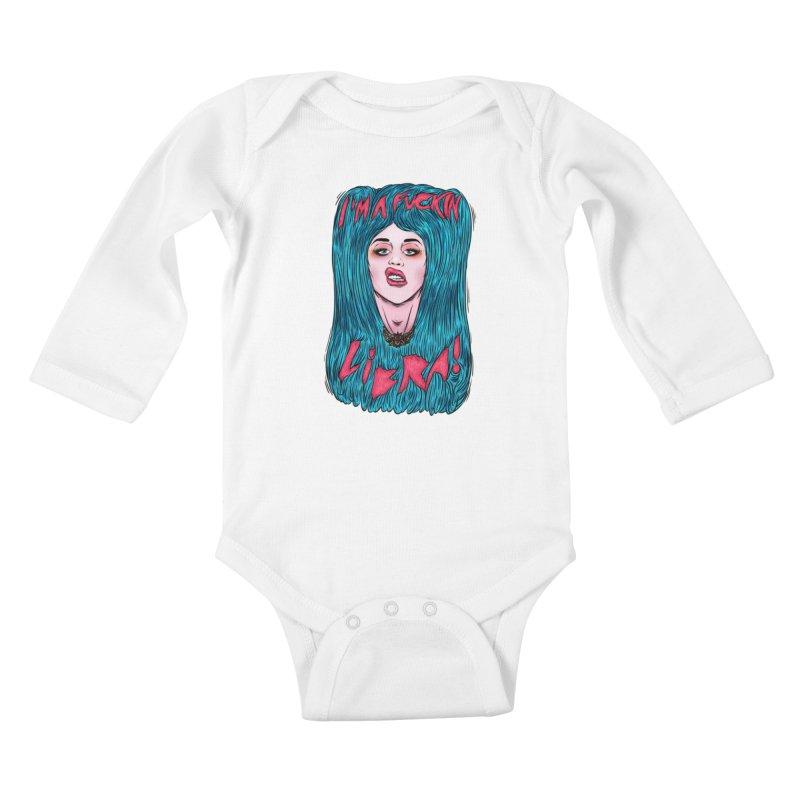 I'm a fuckin libra! Kids Baby Longsleeve Bodysuit by creativosindueno's Artist Shop