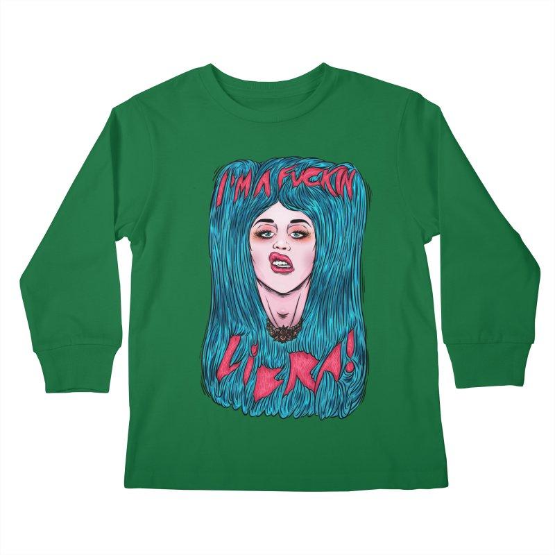 I'm a fuckin libra! Kids Longsleeve T-Shirt by creativosindueno's Artist Shop