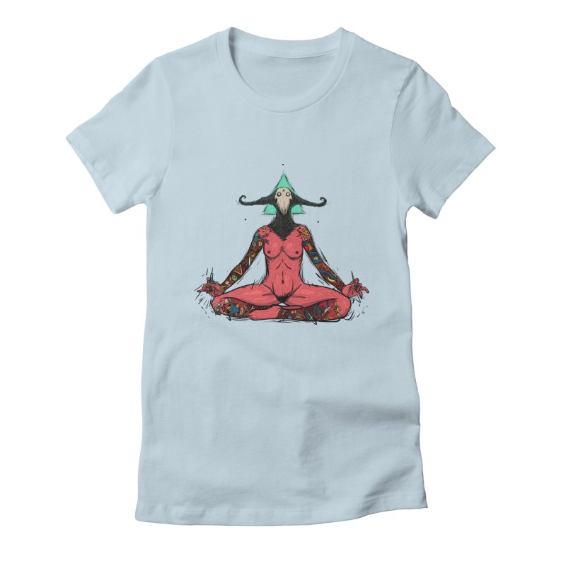 DevilWomen iluminated Women's Fitted T-Shirt by creativosindueno's Artist Shop
