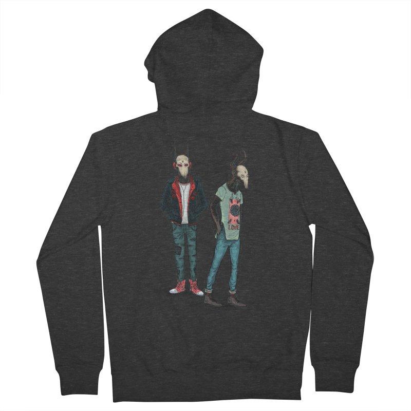 LosDiablos2 Men's Zip-Up Hoody by creativosindueno's Artist Shop