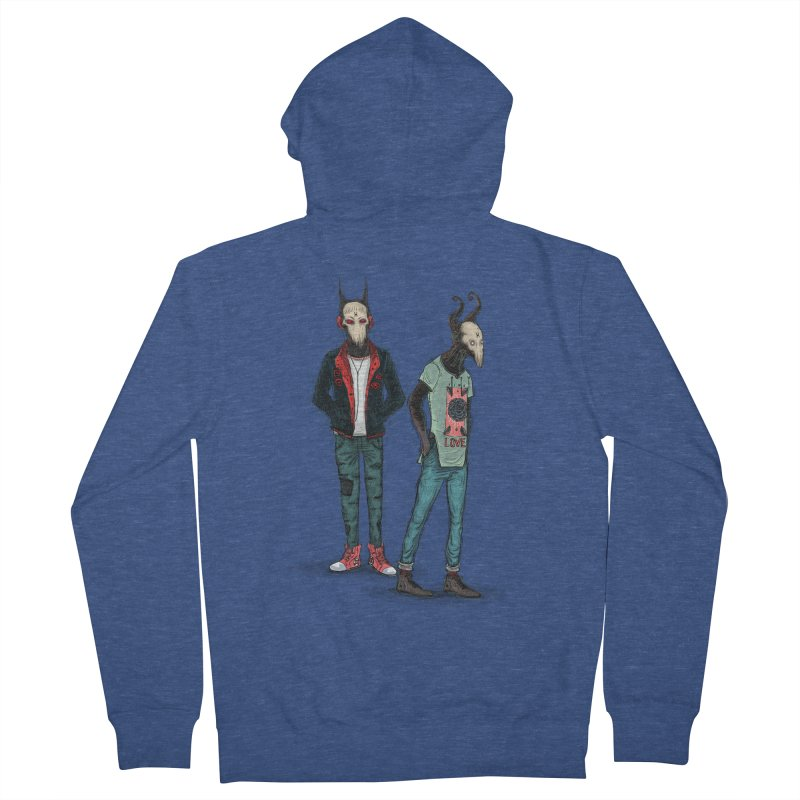 Devilfriends Men's French Terry Zip-Up Hoody by creativosindueno's Artist Shop