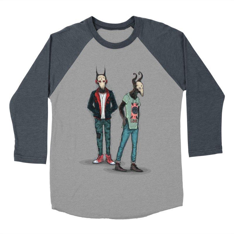 LosDiablos2 Men's Baseball Triblend T-Shirt by creativosindueno's Artist Shop