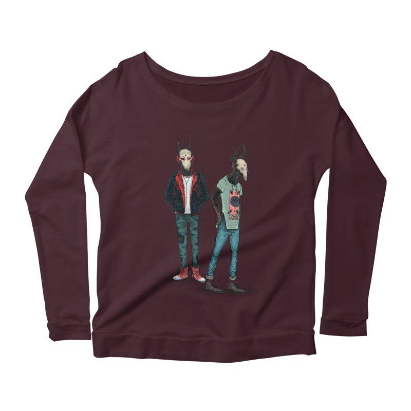 Devilfriends Women's Scoop Neck Longsleeve T-Shirt by creativosindueno's Artist Shop