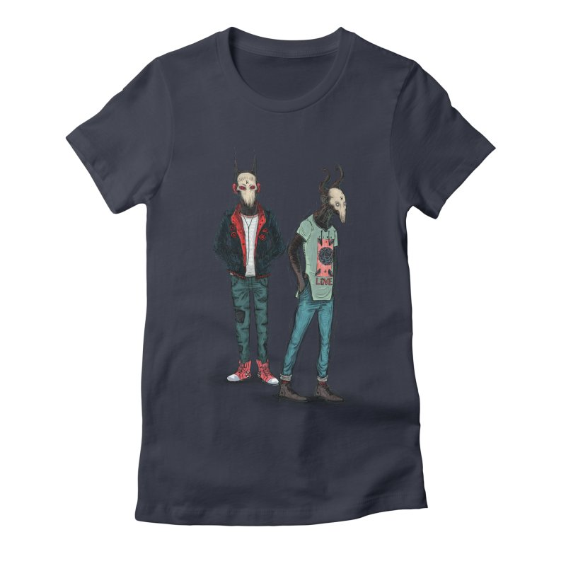 LosDiablos2 Women's Fitted T-Shirt by creativosindueno's Artist Shop
