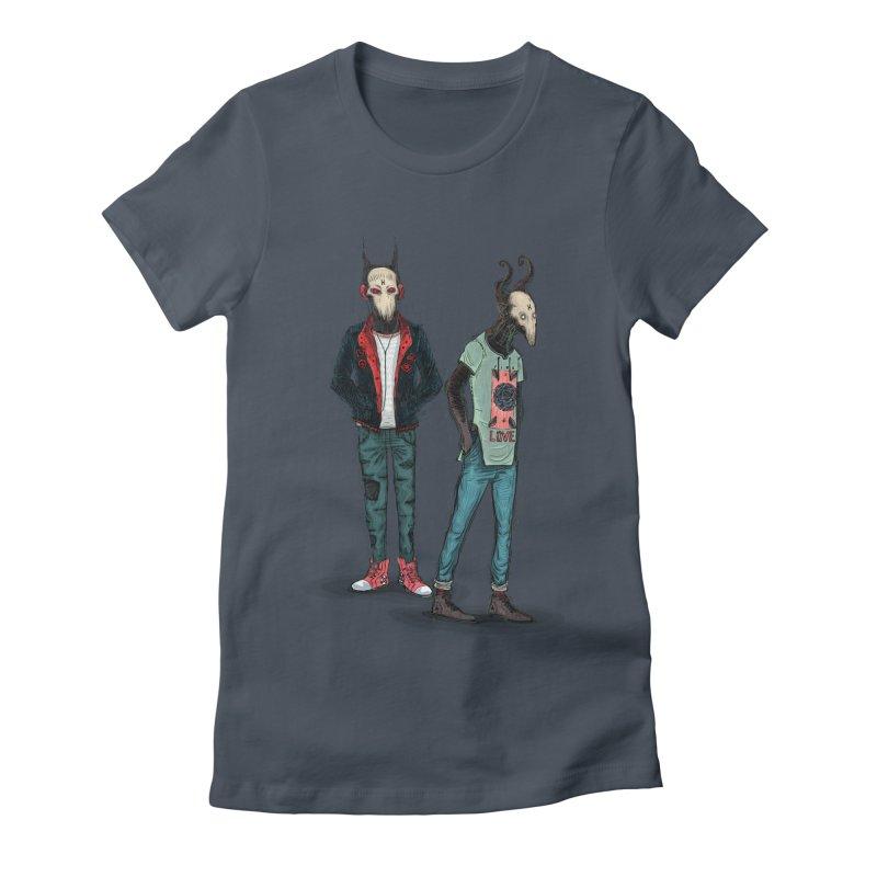 Devilfriends Women's Fitted T-Shirt by creativosindueno's Artist Shop
