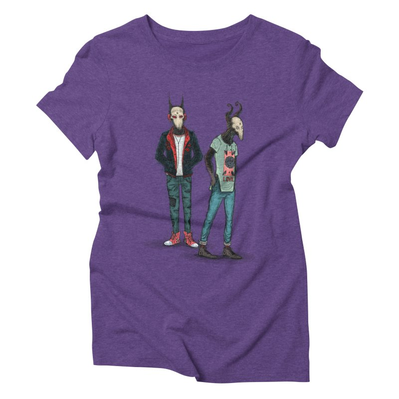 Devilfriends Women's Triblend T-Shirt by creativosindueno's Artist Shop