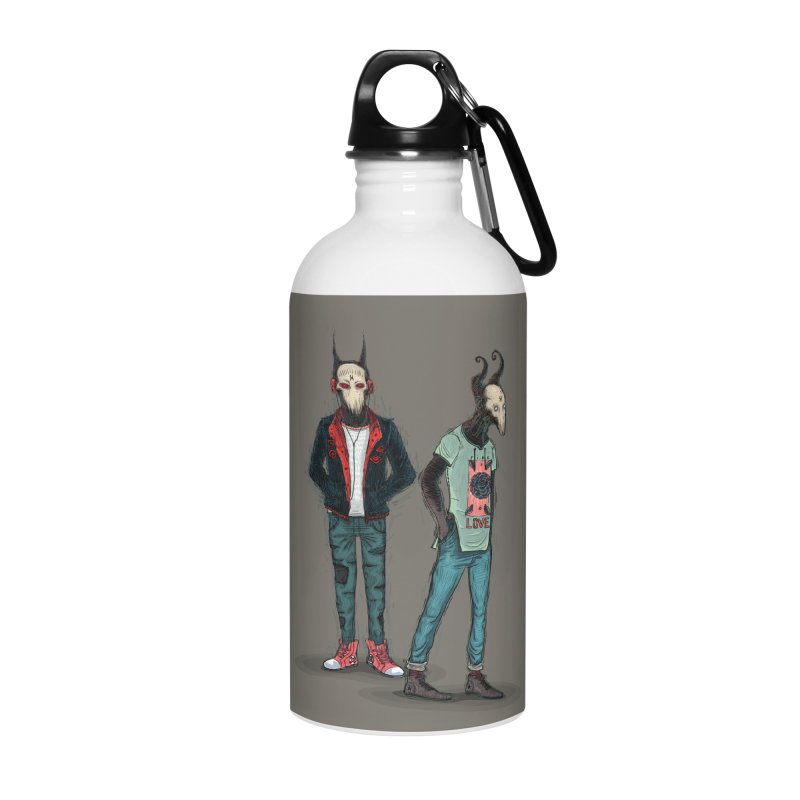 LosDiablos2 Accessories Water Bottle by creativosindueno's Artist Shop