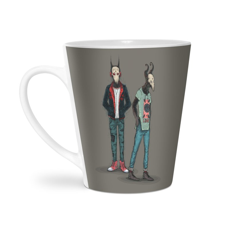 Devilfriends Accessories Latte Mug by creativosindueno's Artist Shop