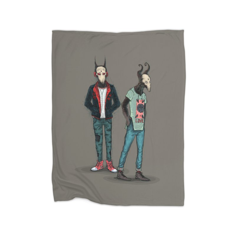 Devilfriends Home Fleece Blanket Blanket by creativosindueno's Artist Shop