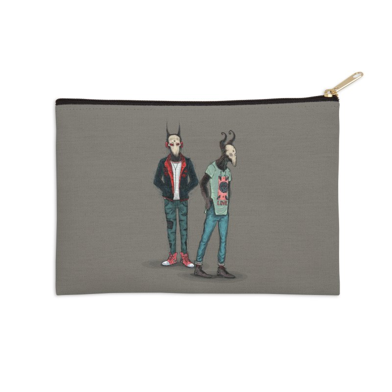 LosDiablos2 Accessories Zip Pouch by creativosindueno's Artist Shop