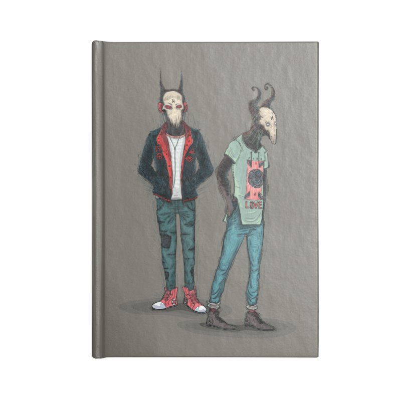 Devilfriends Accessories Lined Journal Notebook by creativosindueno's Artist Shop