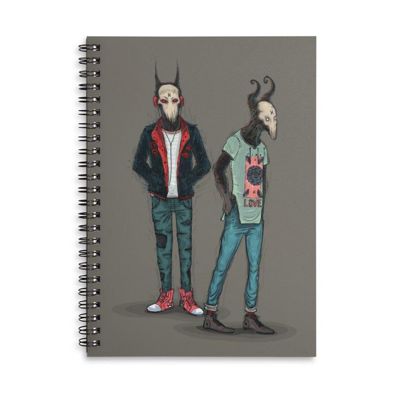 Devilfriends Accessories Lined Spiral Notebook by creativosindueno's Artist Shop