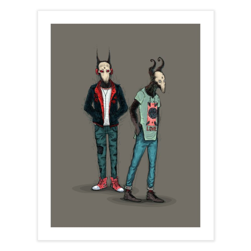 Devilfriends Home Fine Art Print by creativosindueno's Artist Shop