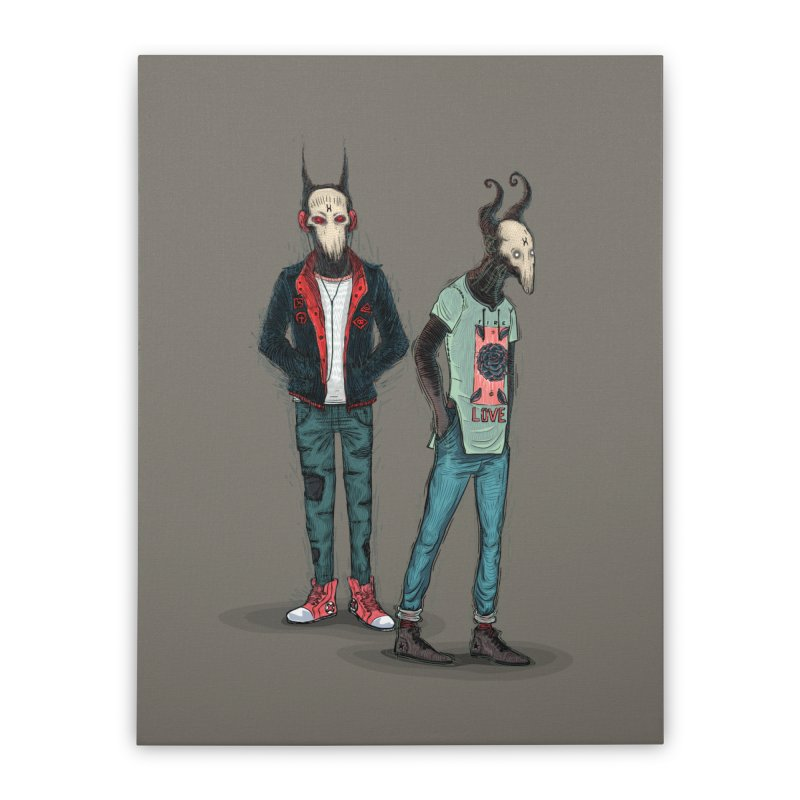 Devilfriends Home Stretched Canvas by creativosindueno's Artist Shop