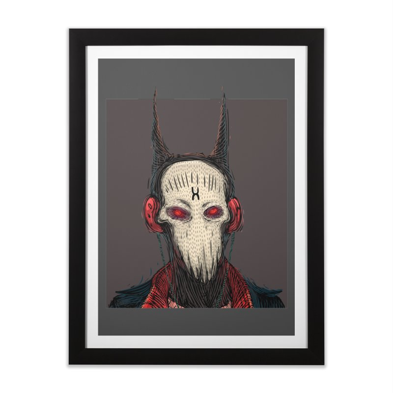 Devilman Home Framed Fine Art Print by creativosindueno's Artist Shop