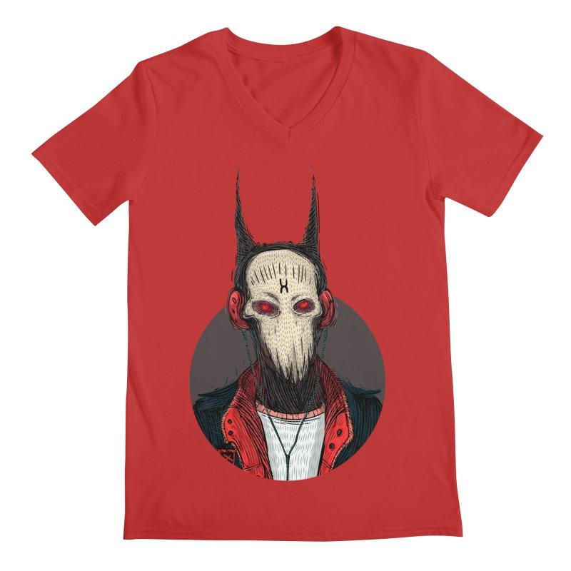 DevilmanTshirts Men's Regular V-Neck by creativosindueno's Artist Shop