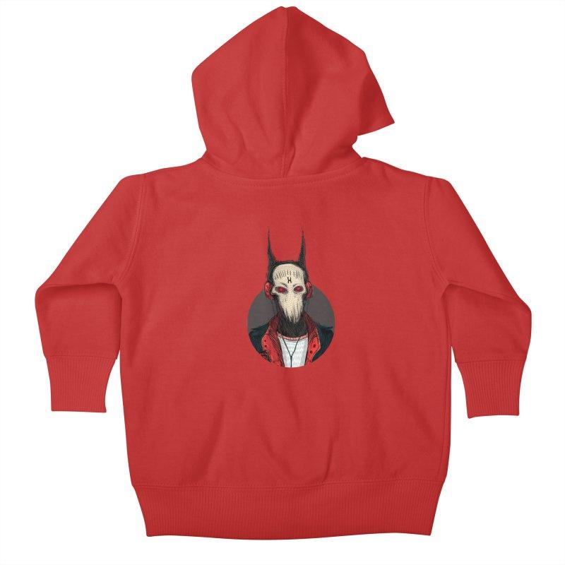DevilmanTshirts Kids Baby Zip-Up Hoody by creativosindueno's Artist Shop