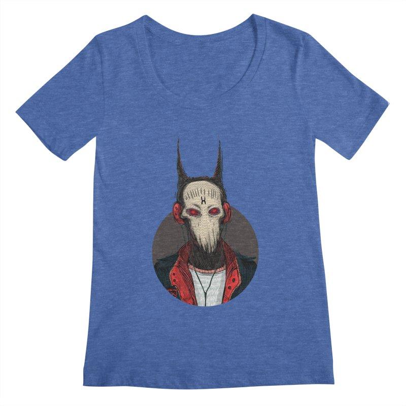 DevilmanTshirts Women's Regular Scoop Neck by creativosindueno's Artist Shop