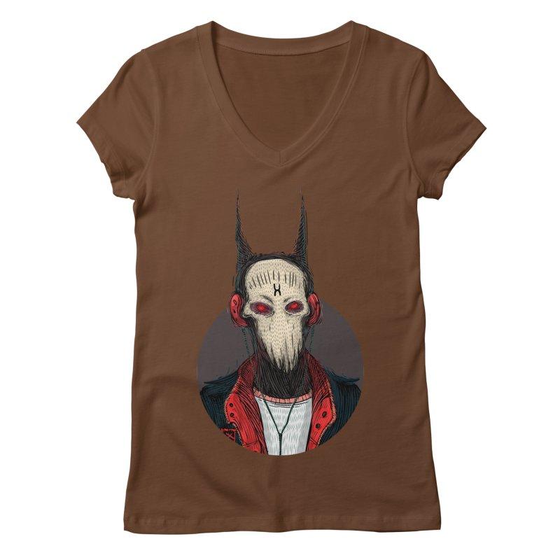 DevilmanTshirts Women's Regular V-Neck by creativosindueno's Artist Shop