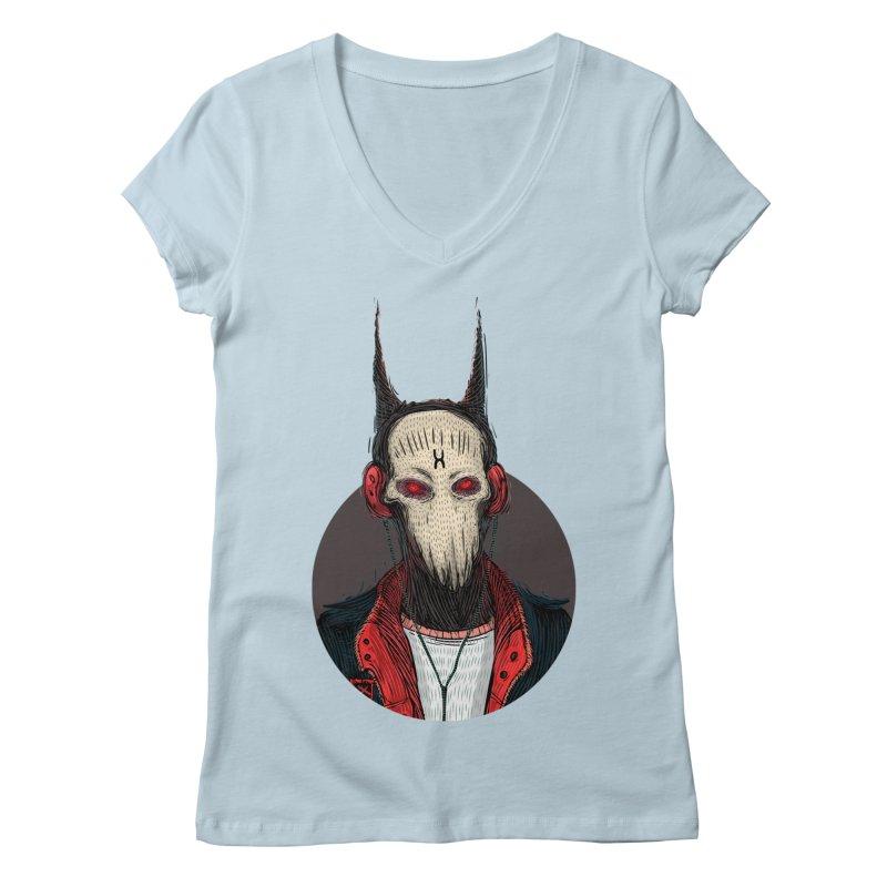 DevilmanTshirts Women's V-Neck by creativosindueno's Artist Shop