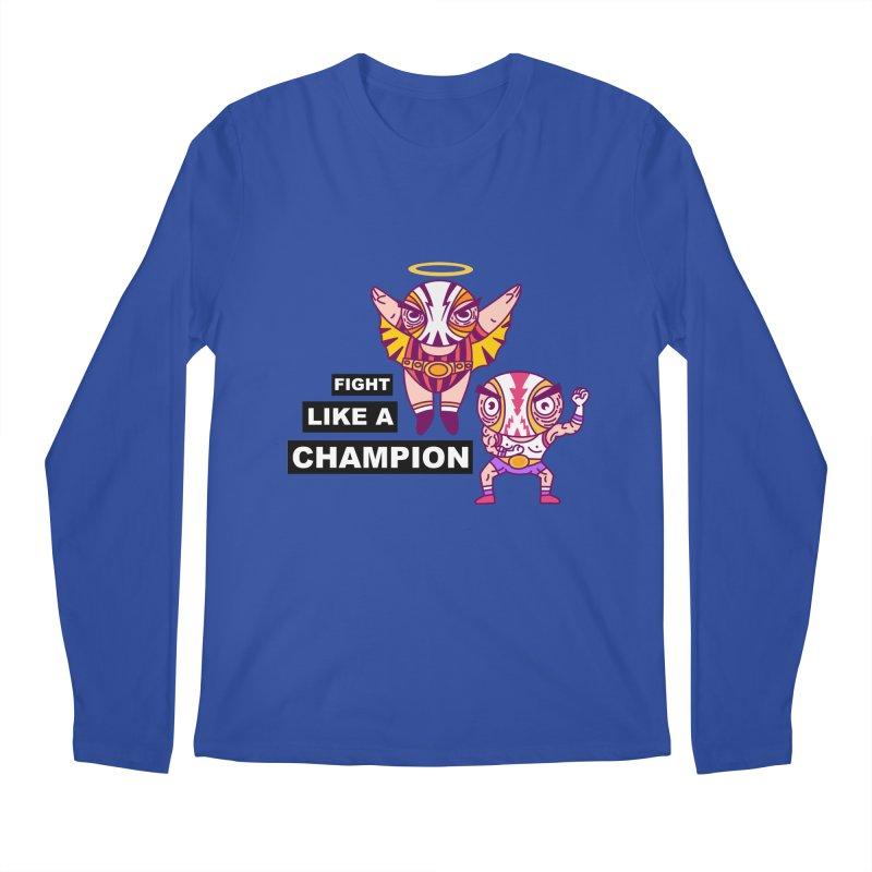 fight like a champion Men's Regular Longsleeve T-Shirt by creativosindueno's Artist Shop